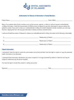 2018 03 DAD Authorization Release of info to family